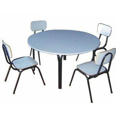 Conjunto Escolar Infantil com 4 cadeiras